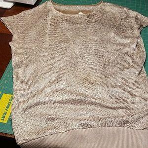 Medium Gold sweater short dress w/sequin